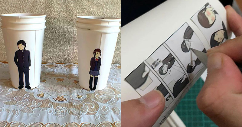 Artist Finds Creative Way to Use Paper Cups To Tell a Love Story – Buythennow